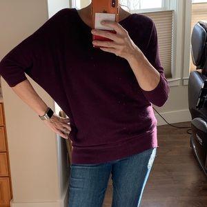 Purple Asymmetric Purple Sweater